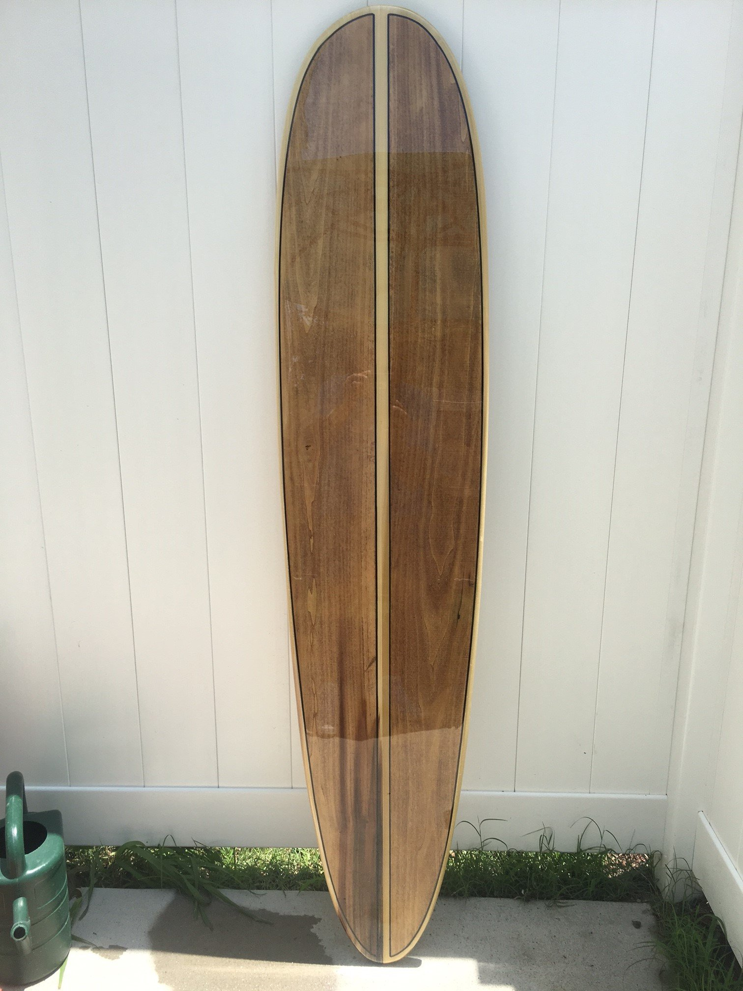 Five foot poplar surfboard wall hanging. Surfboard wall hanging. Surfboard décor.