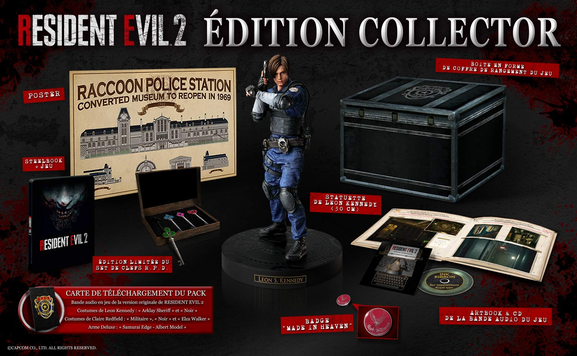 Amazon com: Resident Evil 2 Collector's Edition PS4 USA - Physical