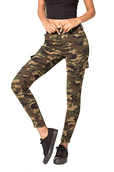big sale good texture cozy fresh Crazy Lover Ladies Women's Jeans Trousers Camouflage Cargo Pants Green  Sizes UK 8 10 12 14