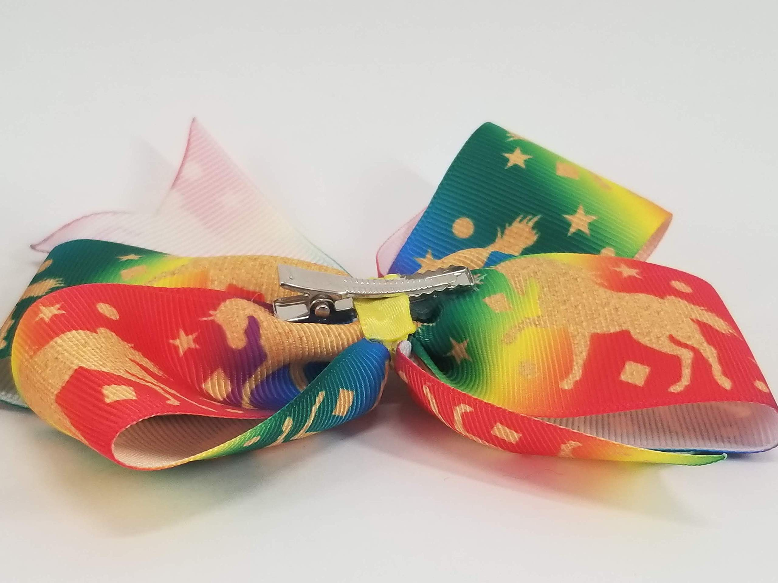 Rainbow Unicorns Hair Bow 10