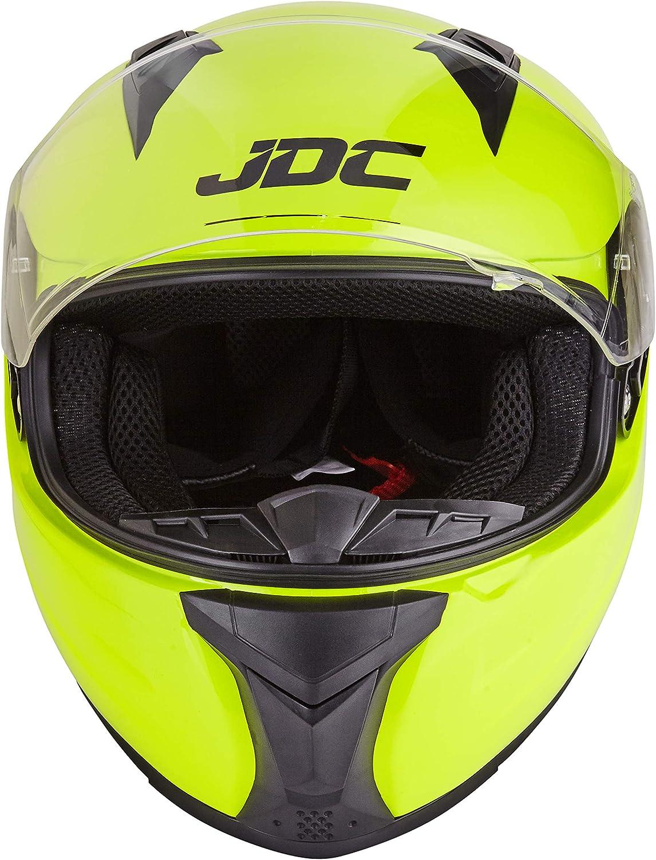 PRISM JDC volles Gesicht Motorrad Helm L Fluoreszierendes Gelb
