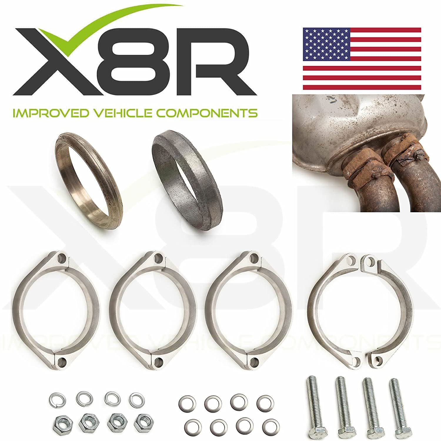 Amazon.com: BMW E46 M3 Exhaust Flange Muffler Back Box Repair Rusted Corroded Flanges Kit X8R0092: Automotive