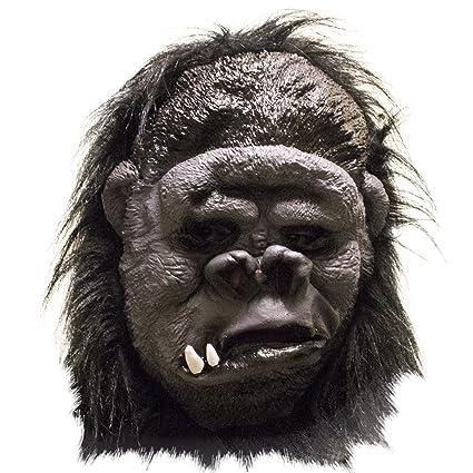 tols Toys – Máscara de gorila con de cabello negro realista para adultos. Disfraces,