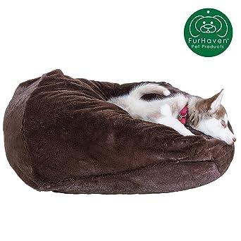 Amazon.com: Furhaven - Cama redonda de peluche para perros y ...