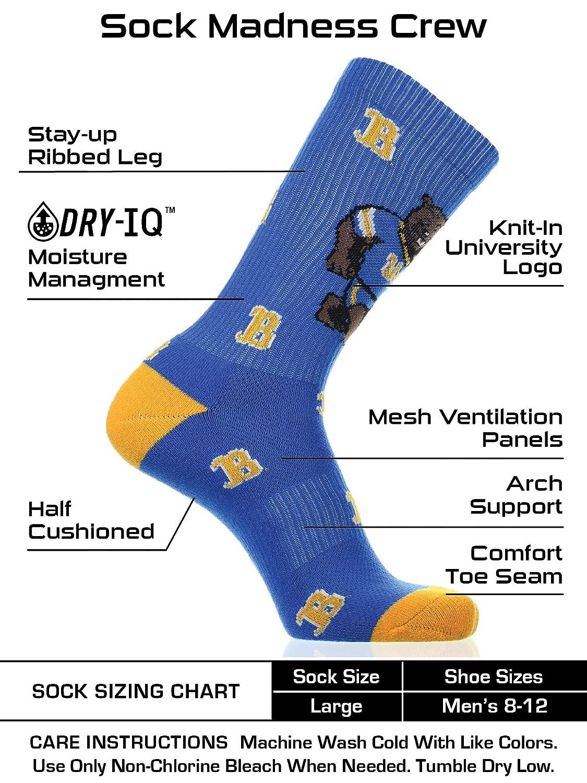 TCK UCLA Bruins Socks Crew Length Sock Mayhem
