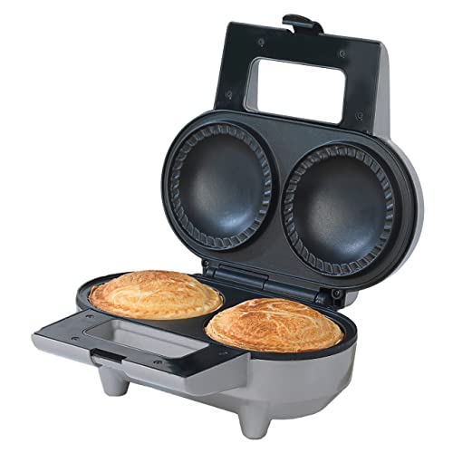Twin Double Pie Maker Non Stick Electric Sweet Savoury with Crimping Edge Pastry