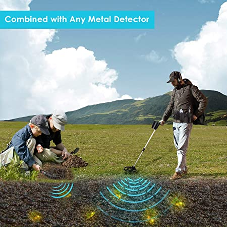 ... Metals and Coins in Caves,Soils with Multifunctional 180° Rotatable Shovel & Waist Bag-Combined with Any Metal Detector for Treasure: Sports & Outdoors