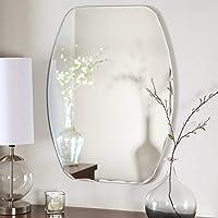 Quality Glass Frameless Decorative Mirror   Mirror Glass for Wall   Mirror for bathrooms   Mirror in Home   Mirror Decor   Mirror Size : 18 inch x 24(QG-FL-001)