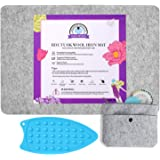 Rdutuok 17x13.5 Inches Wool Pressing Mat for Quilting Ironing Pad Easy Press Wooly Felted Iron Board for Retains Heat, Great