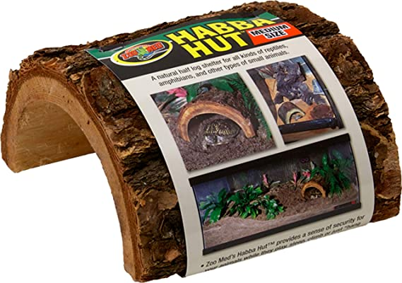 Zoo Med Natural Turtle Hut for Terrariums Set of 2 Size: Large 0.5 H x 0.5 W x 0.5 L