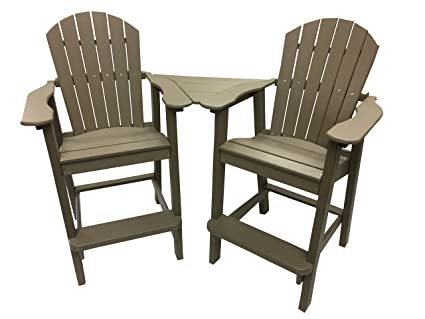 Phat Tommy Recycled Poly Resin Balcony Chair Settee – Durable and  Adirondack Patio Furniture, Weatherwood - Amazon.com : Phat Tommy Recycled Poly Resin Balcony Chair Settee