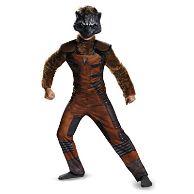 Disguise Marvel Guardians of The Galaxy Rocket Raccoon Deluxe Boys Costume, One Color, 7-8: Toys & Games