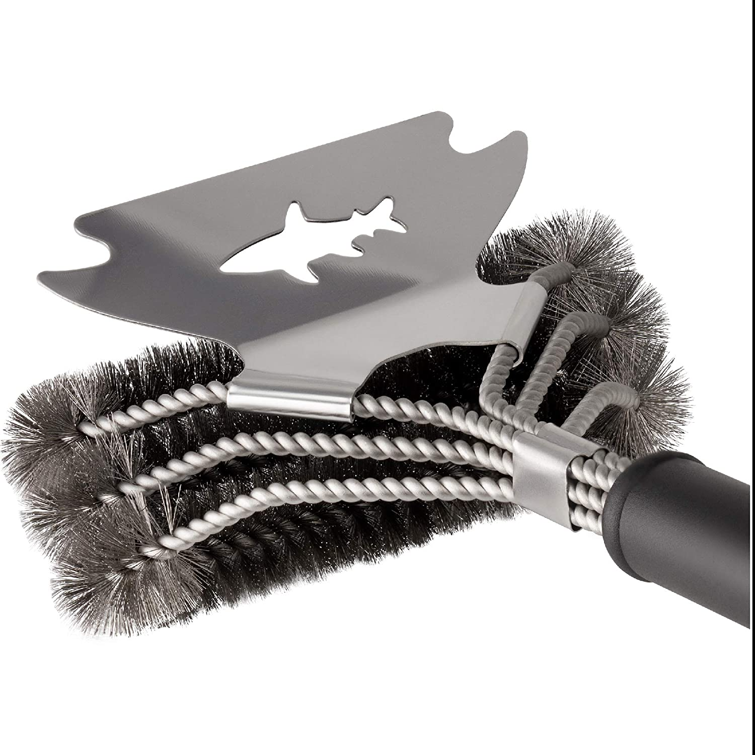BBQ Tools Grill Cleaner Loose Paint Wire Brush Attachment Alternative Graffiti Removal Stone Oven Rack Cleaner Rust Removal Concrete Grill Scraper BBQ Grill Accessories Grill Brush