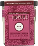 Mrs. Meyer's Clean Day Soy Candle Small, Mum, 4.9 Ounce