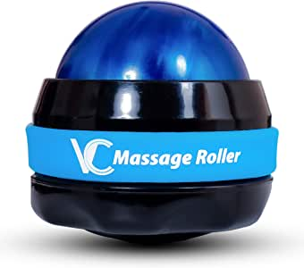 Vital Champs Therapy Massage Roller Ball for Pain Relief and Muscles Sore Manual 360 Degrees for All Body Parts Neck Back Foot with Handheld Using Essential Oils for Women and Men