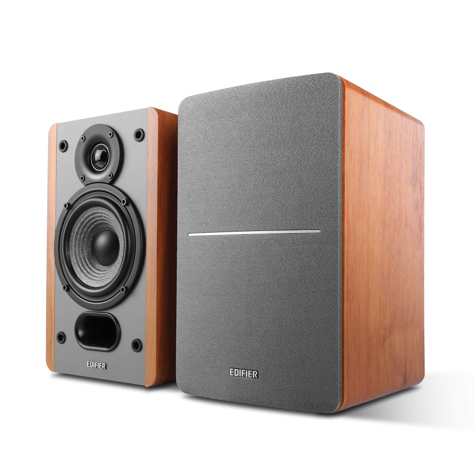 Edifier P12 Passive Bookshelf Speakers - 2-Way Speakers with Built-in Wall-Mount Bracket - Wood Color, Pair by Edifier