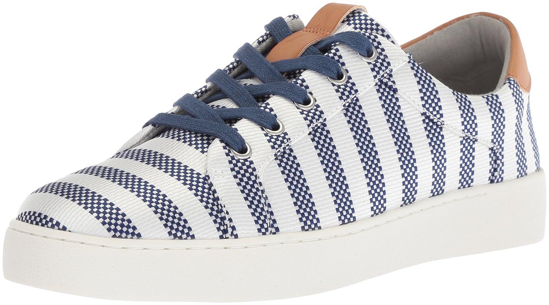 Nine West Women's Pereo Fabric Sneaker B074T48TWT 5 B(M) US|Dark Blue-off White/Multi Fabric