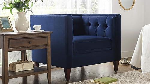 Jennifer Taylor Jack Tufted Arm Chair, Estate Blue