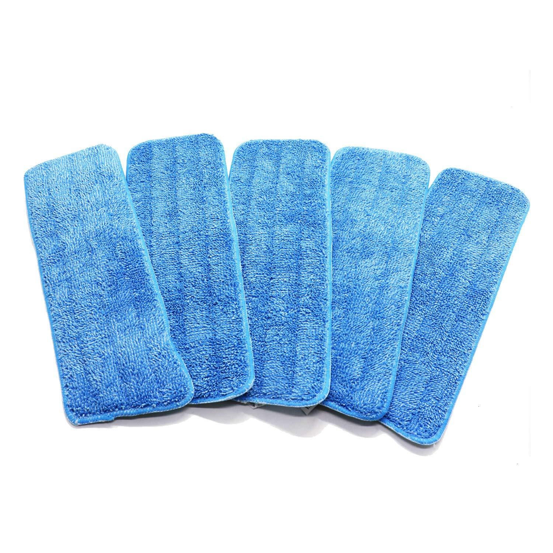 JETEHO 5ピース マイクロファイバースプレーモップ交換用パッド 洗えるマイクロファイバークリーニングパッド Reveal Mop用 ブルー 16インチ x 5インチ B07MT7L8W8