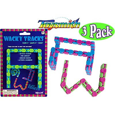 Toysmith Wacky Tracks Blue/Green, Blue/Pink & Pink/Green Complete Gift Set Bundle - 3 Pack: Toys & Games