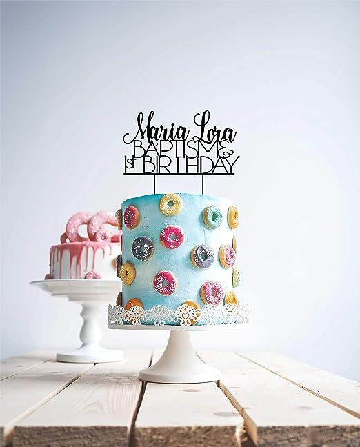 Decoración personalizada para tarta con nombre personalizado ...