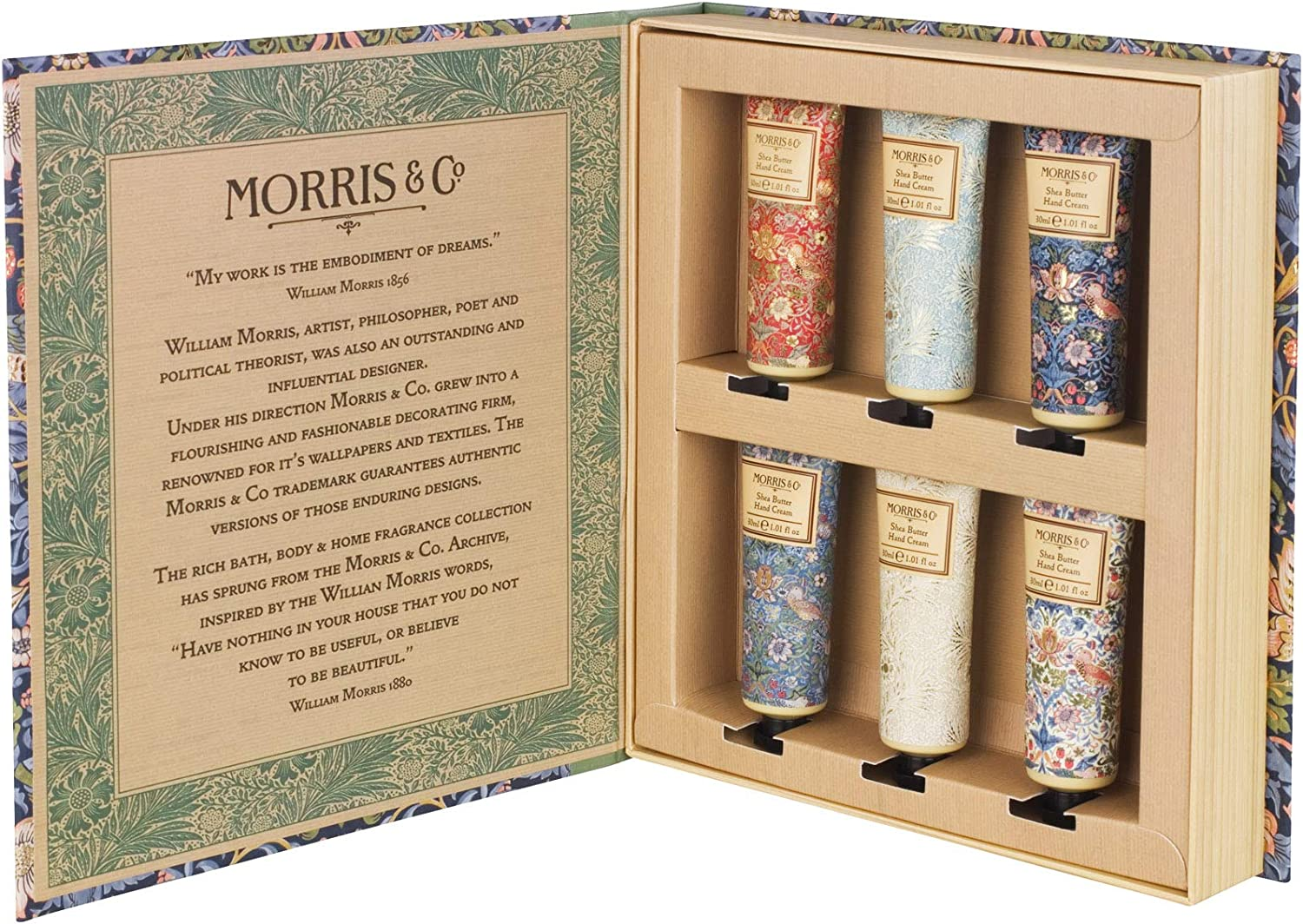 Morris & Co Library of Prints Hand Creams Set
