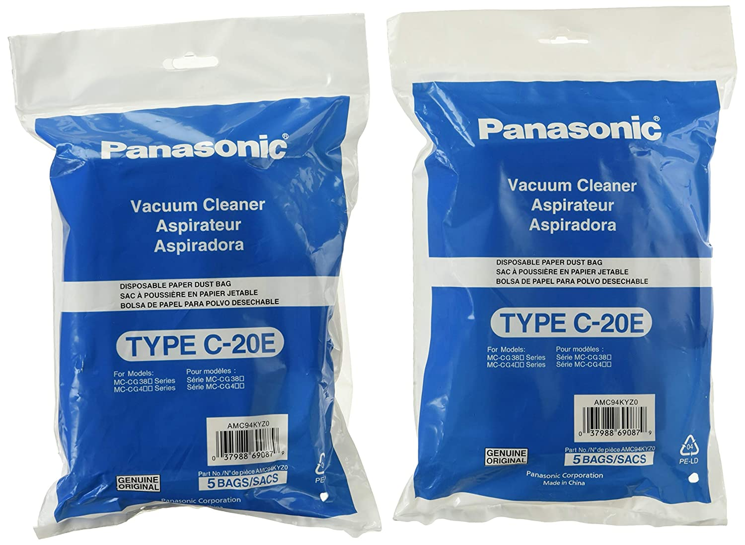Panasonic AMC94KYZ0 Type C-20E Canister Vacuum Bags (10 Bags)