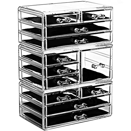 Amazoncom Ikee Design Jewelry Makeup Drawer Organizer Tray Three