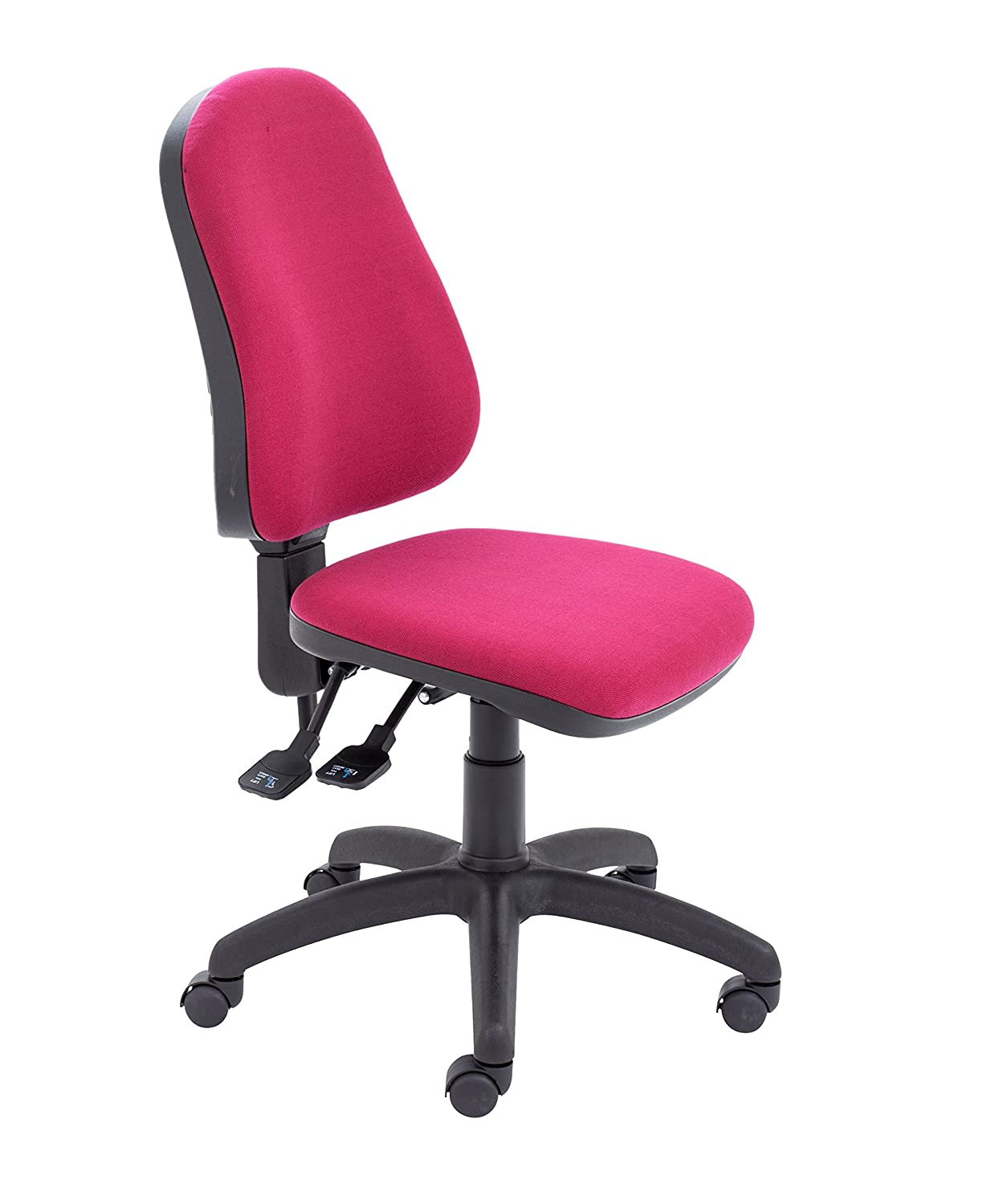 Office Hippo 3 Lever High Back Office Chair, Fabric - Royal Blue TC Group OHS0065RB
