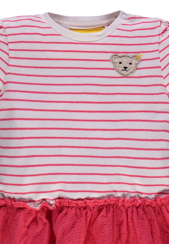 Steiff Kleid mit Rockteil im Ringellook M/ädchen Baby Kinder