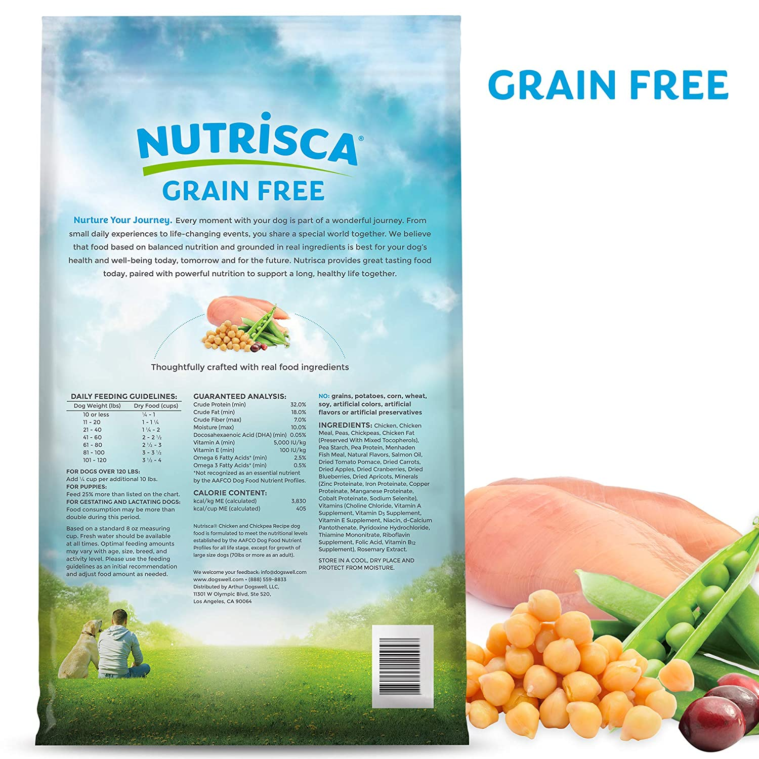 Nutrisca Chicken And Chick Pea Food For Pets, 28-Pound