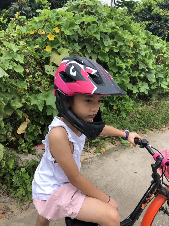 Casco de Bicicleta Casco de Bicicleta para ni/ños Accesorio para Bicicleta Integral Casco de Moto Ocamo Casco Completo
