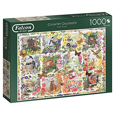 Jumbo 11190 Country Calendar Jigsaw Puzzle: Toys & Games