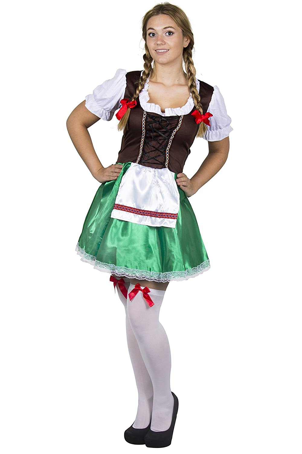 15fc935e1bb LADIES BROWN & GREEN BAVARIAN FANCY DRESS COSTUME WOMENS BEER MAIDEN MAID  OKTOBERFEST GERMAN STAGG AND HEN NIGHT BEER FESTIVAL DRESS - SMALL UK 8/10