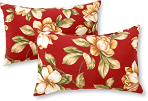 Greendale Home Fashions Rectangle Outdoor Accent Pillow (set of 2), Roma Floral