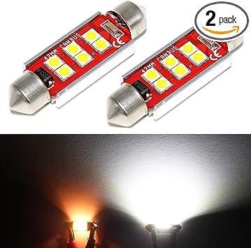 1 Piece 41mm Xenon White LED License Plate Light Bulbs 6-SMD Festoon 211-2
