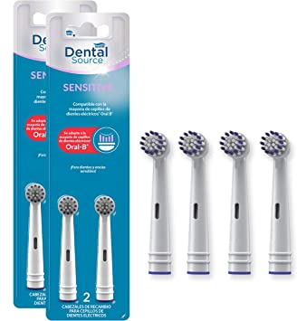 Dental Source SENSITIVE, Cabezales de recambio para Oral-B cepillo ...