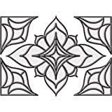 """Brewster 93808 Brewster Stained Glass """"Alden"""", 10.5-Inch by 7.5-Inch, Clear"""