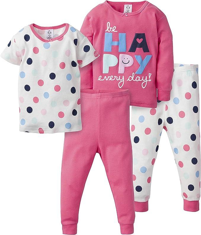 Carters Girls 4-Piece Snug Fit Cotton PJ Set 5T Bunny Flowers
