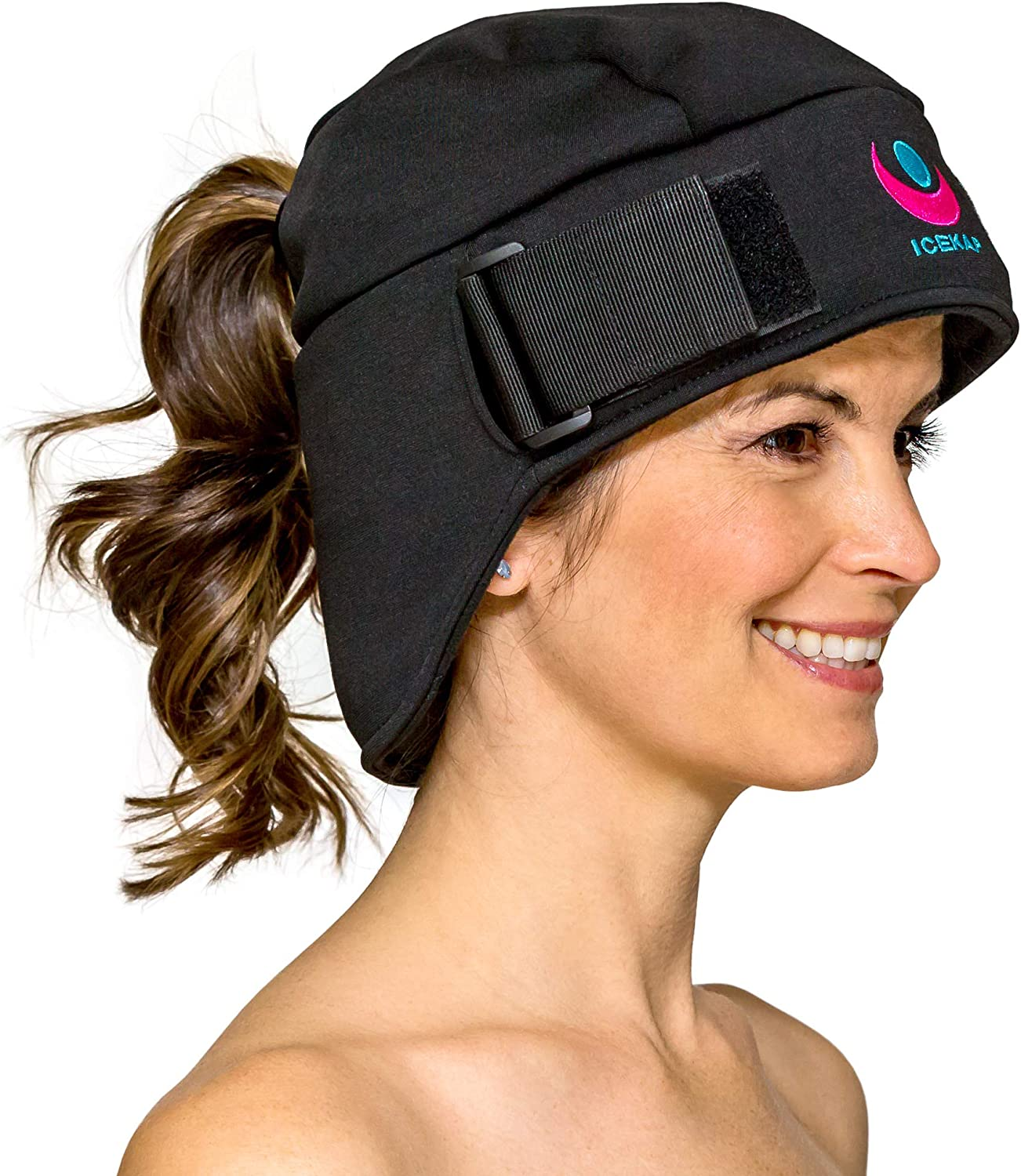 Icekap Migraine Cap - Patented Migraine Relief Headache Hat with 5 Gel Ice Pack - Ice Hat Lasts Up to 3 Hours! Icecap for Migraines, Chemo, Sinus Relief, Head Tension, Fever, Flu, Menopause and More …