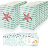 Girls Birthday Party Invites Invitations Fill In Style & Goodie Treat Bags - Mermaid Sea Theme - Includes 16 Pack Invitations 6 x 4 Inches & 16 Piece Party Favor Bags for Girls 6 x 9.5 Inches