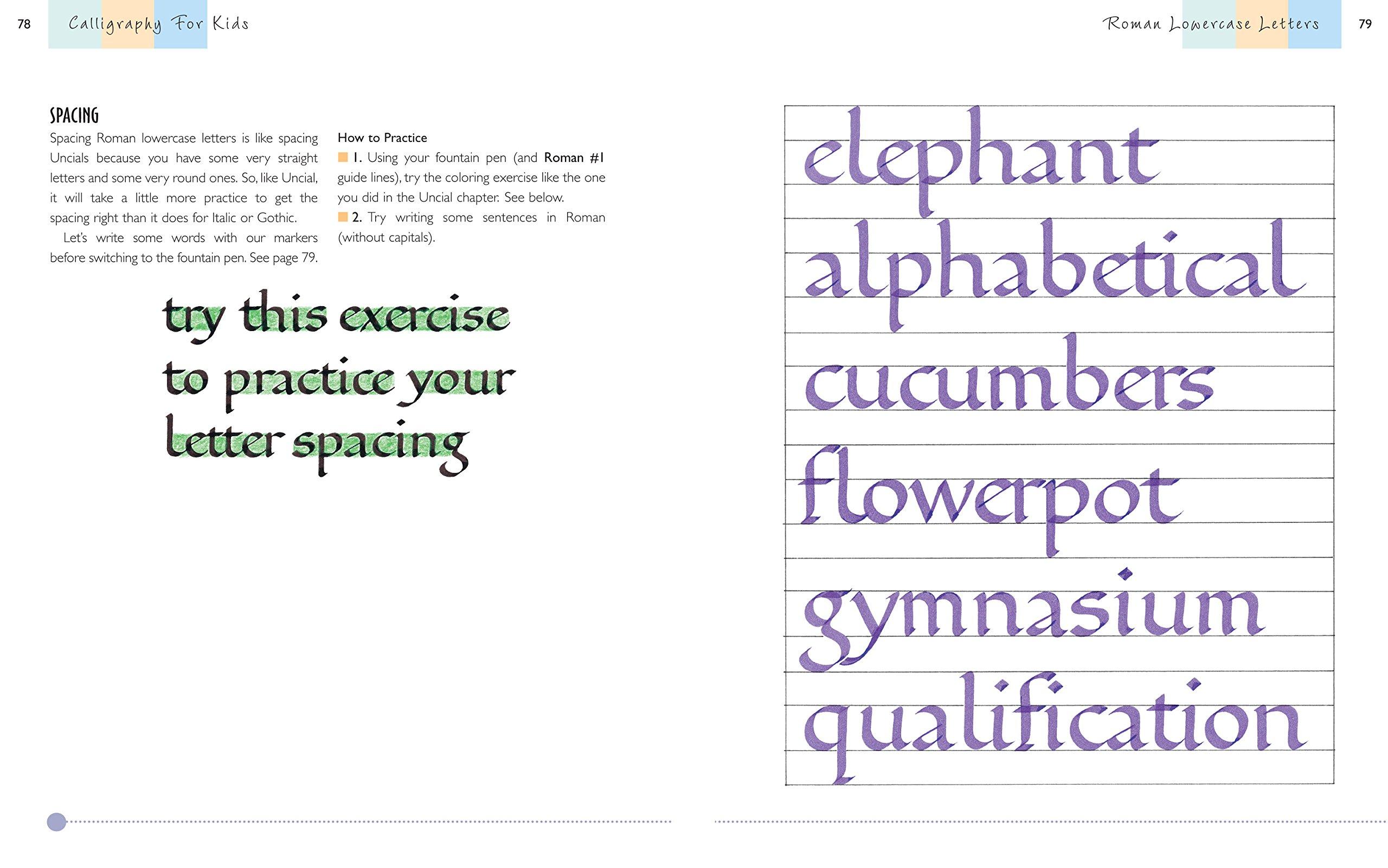 Calligraphy For Kids Eleanor Winters 8601404283727 Amazon Books