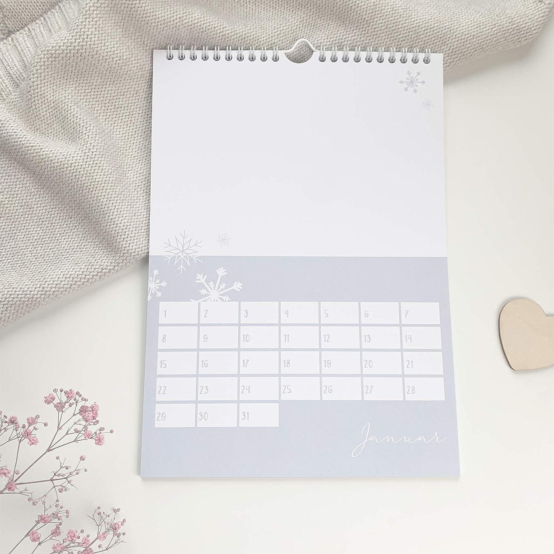 immerw/ährender Jahreskalender I Wandkalender als DIY Geschenk Fotokalender mintkind/® Bastelkalender zum Selbstgestalten ohne Jahr I A4 Kalender zum Basteln