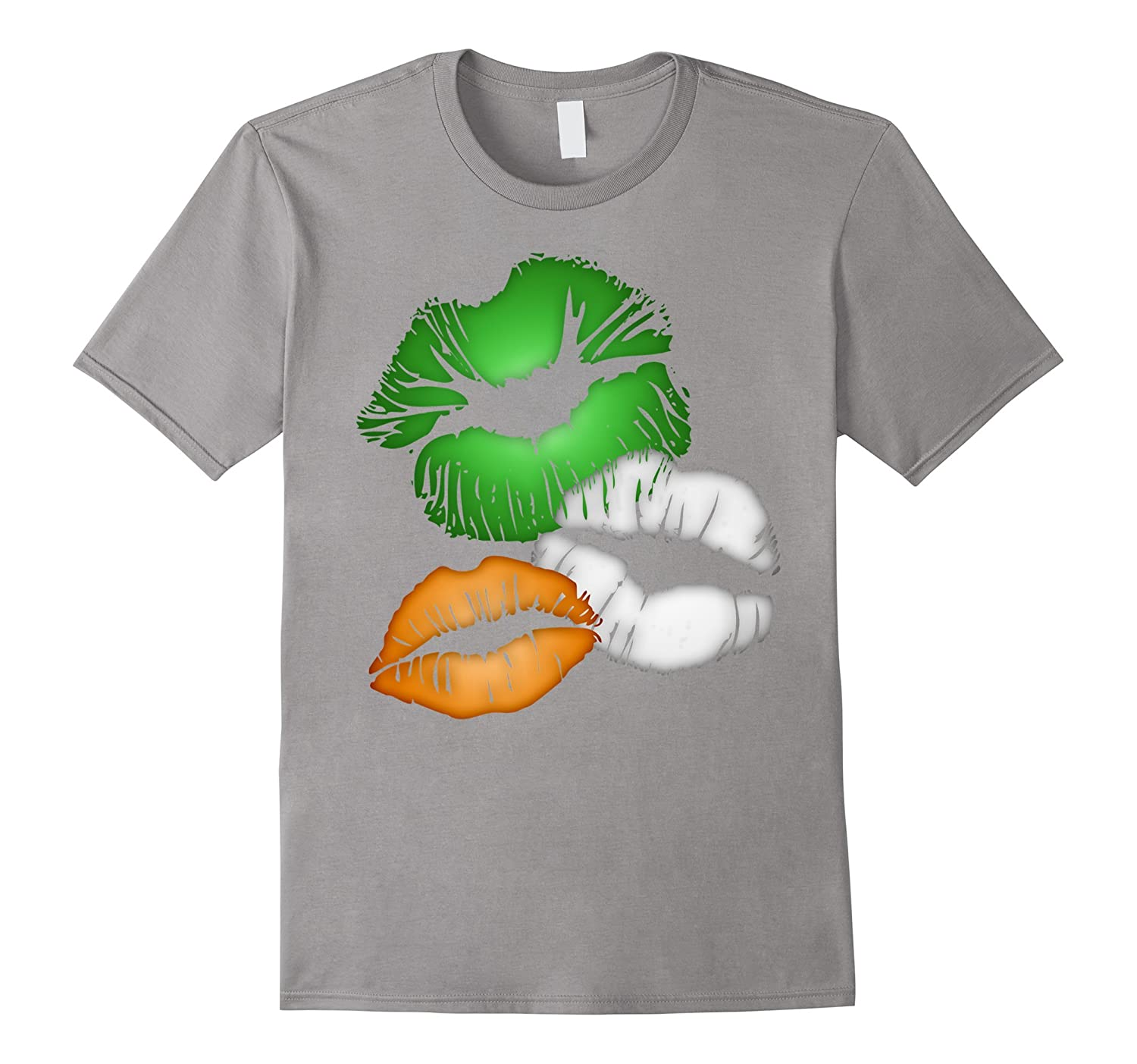 Irish Pride Kissing Lips T-Shirt-CL