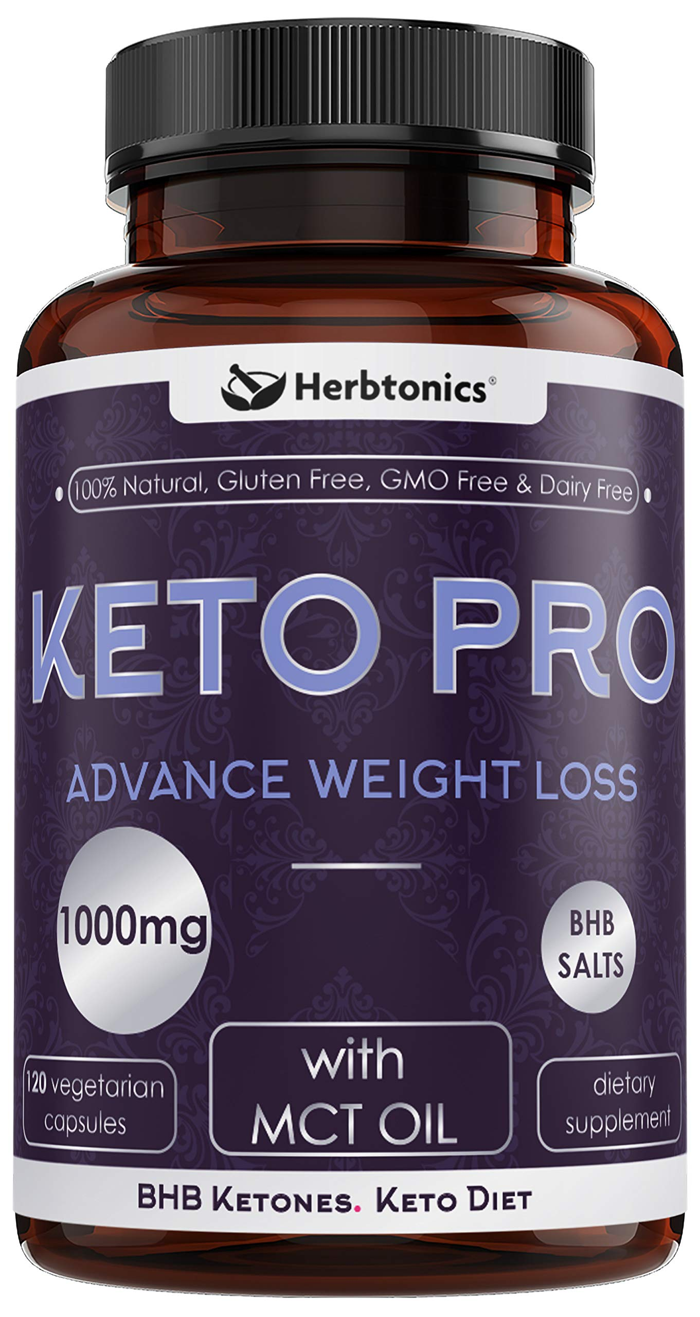 Fat Burners for Women and Men - Keto Diet Pills Weight Loss Supplement from Ketones BHB Salts and MCT Oil Carb Blocker Fat Burner, Achieve Perfect Ketosis and Block Carbs Keto Supplement