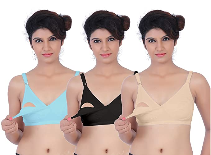 76514375f6655 Image Unavailable. Image not available for. Colour  Fabme Women s Full Cup  Nursing Bra (Pack ...