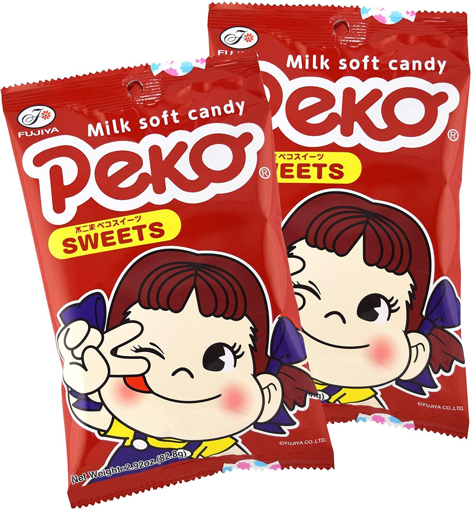 Fujiya Peko Sweets 2.92oz (2 Pack) by Fujiya