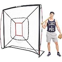 NET PLAYZ - Red de béisbol y Softball de 7 pies x 7 pies para práctica de golpeo y Lanzamiento, Similar al Marco de Lazo, Ideal para Todos los Niveles de Habilidad