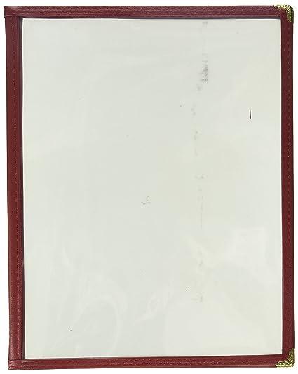 amazon com excellanté 3 page book fold menu cover 8 1 2 x 11