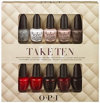 Opi Nail Lacquer 10 Piece set, Take Ten Mini Kit: Amazon.ca: Beauty